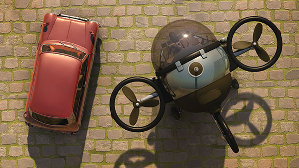 Fly Citycopter is new urban aerial vehicle designed by Eduardo Galvani