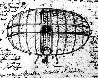 Swedenborg's Flying Machine was first sketched by the Swedish scientist Emanuel Swedenborg in 1714, when he was 26 years old. It was later published in his periodical in 1716. It is recognized as the first published description of a flying machine.