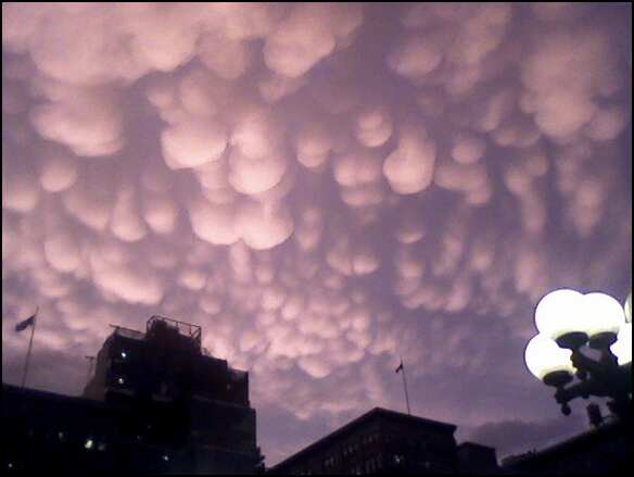 Strange Cloud Formations Over NYC