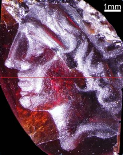 Rare discovery ancient gemstone with portrait of Alexander the Great