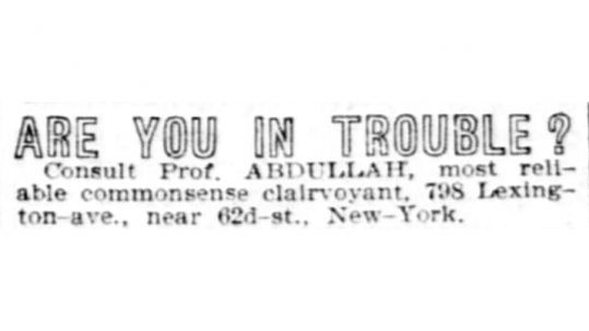 """Abdullah's Real Name"" Neville Goddard Research (New York) Part #2"